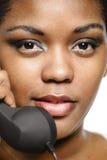 Κορίτσι τηλεφωνικών κέντρων Στοκ εικόνες με δικαίωμα ελεύθερης χρήσης