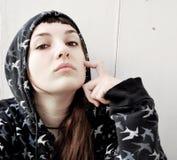 κορίτσι τοποθέτησης Στοκ Φωτογραφία
