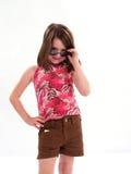 κορίτσι τοποθέτησης Στοκ φωτογραφία με δικαίωμα ελεύθερης χρήσης