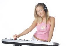 κορίτσι του DJ Στοκ εικόνα με δικαίωμα ελεύθερης χρήσης