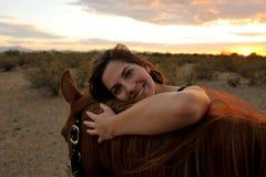 κορίτσι το άλογό της Στοκ εικόνες με δικαίωμα ελεύθερης χρήσης