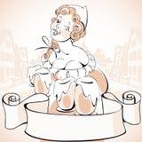κορίτσι το πιό oktoberfesτο διανυσματική απεικόνιση