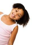 κορίτσι το τέντωμα λαιμών τ&eta Στοκ φωτογραφία με δικαίωμα ελεύθερης χρήσης