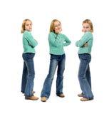 κορίτσι τρία νεολαίες όψ&epsilon Στοκ Εικόνα