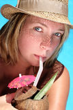 κορίτσι τροπικό στοκ εικόνες