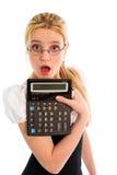 κορίτσι υπολογιστών έκπλ στοκ φωτογραφία