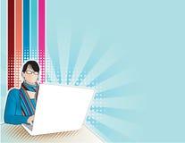 κορίτσι υπολογιστών Στοκ φωτογραφίες με δικαίωμα ελεύθερης χρήσης