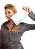 κορίτσι φακέλων Στοκ φωτογραφία με δικαίωμα ελεύθερης χρήσης
