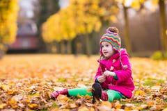 κορίτσι φθινοπώρου λίγο &pi Στοκ Φωτογραφίες