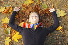 κορίτσι φθινοπώρου στοκ εικόνα με δικαίωμα ελεύθερης χρήσης