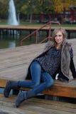 Κορίτσι φθινοπώρου Στοκ φωτογραφίες με δικαίωμα ελεύθερης χρήσης