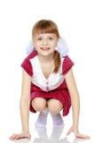 κορίτσι φορεμάτων λίγα κόκ Στοκ φωτογραφία με δικαίωμα ελεύθερης χρήσης