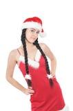 κορίτσι φορεμάτων αρκετά κόκκινο Στοκ Εικόνα
