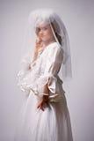 κορίτσι φορεμάτων νυφών λί&gamma Στοκ Φωτογραφία