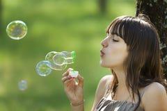 κορίτσι φυσαλίδων στοκ εικόνα