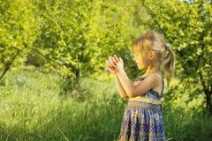 κορίτσι φυσαλίδων λίγο σ Στοκ Φωτογραφία