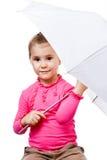 κορίτσι φωτογραφικών μηχανών ευτυχές λίγο κοίταγμα Στοκ εικόνα με δικαίωμα ελεύθερης χρήσης