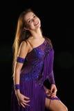 Κορίτσι-χαμόγελο χορού Στοκ εικόνες με δικαίωμα ελεύθερης χρήσης