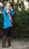 Κορίτσι-χειμερινή ένδυση εφήβων Στοκ Εικόνα