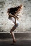 κορίτσι χορού Τρίχες πολυτέλειας Στοκ Εικόνες