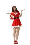 κορίτσι Χριστουγέννων έκπ&la Στοκ Εικόνες