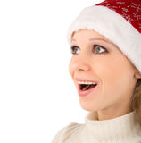 κορίτσι Χριστουγέννων έκπ&la Στοκ φωτογραφίες με δικαίωμα ελεύθερης χρήσης