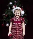 κορίτσι Χριστουγέννων λίγ στοκ εικόνες με δικαίωμα ελεύθερης χρήσης
