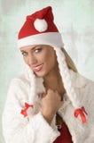 κορίτσι Χριστουγέννων ευτυχές Στοκ Εικόνες