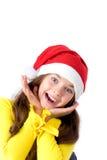 κορίτσι Χριστουγέννων ΚΑ& Στοκ φωτογραφία με δικαίωμα ελεύθερης χρήσης