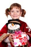 κορίτσι Χριστουγέννων πο&u Στοκ φωτογραφίες με δικαίωμα ελεύθερης χρήσης