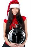 κορίτσι Χριστουγέννων πο&u Στοκ Εικόνες