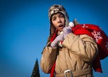κορίτσι Χριστουγέννων τσ&al Στοκ εικόνες με δικαίωμα ελεύθερης χρήσης