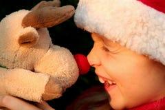 κορίτσι Χριστουγέννων Στοκ Φωτογραφία