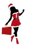 κορίτσι Χριστουγέννων διανυσματική απεικόνιση