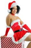 Κορίτσι Χριστουγέννων Στοκ Φωτογραφίες