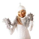 κορίτσι Χριστουγέννων Στοκ Εικόνα