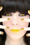 κορίτσι χρυσό απίστευτα Στοκ Εικόνα