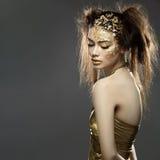 κορίτσι χρυσό Στοκ φωτογραφία με δικαίωμα ελεύθερης χρήσης