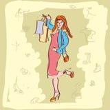 Κορίτσι χρωμάτων Fasion Απεικόνιση αποθεμάτων