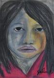 Κορίτσι χρώματος Στοκ φωτογραφίες με δικαίωμα ελεύθερης χρήσης