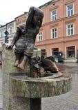 Κορίτσι, ψάρια και νερό Στοκ Φωτογραφία