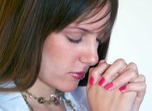 κορίτσι 3 που προσεύχετα&io Στοκ Φωτογραφία