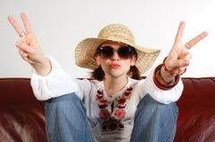 κορίτσι 3 hippy Στοκ φωτογραφία με δικαίωμα ελεύθερης χρήσης