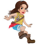 κορίτσι διανυσματική απεικόνιση