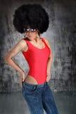 Κορίτσι Afro Στοκ Εικόνες
