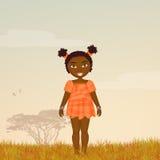 Κορίτσι Afro Στοκ Εικόνα