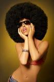 κορίτσι afro Στοκ φωτογραφία με δικαίωμα ελεύθερης χρήσης