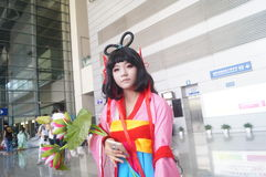 Κορίτσι Anime Στοκ φωτογραφία με δικαίωμα ελεύθερης χρήσης