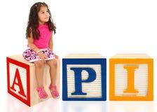 κορίτσι API Στοκ Εικόνες