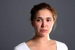 κορίτσι brunette λυπημένο Στοκ εικόνα με δικαίωμα ελεύθερης χρήσης